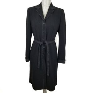Ann Taylor black long dress jacket